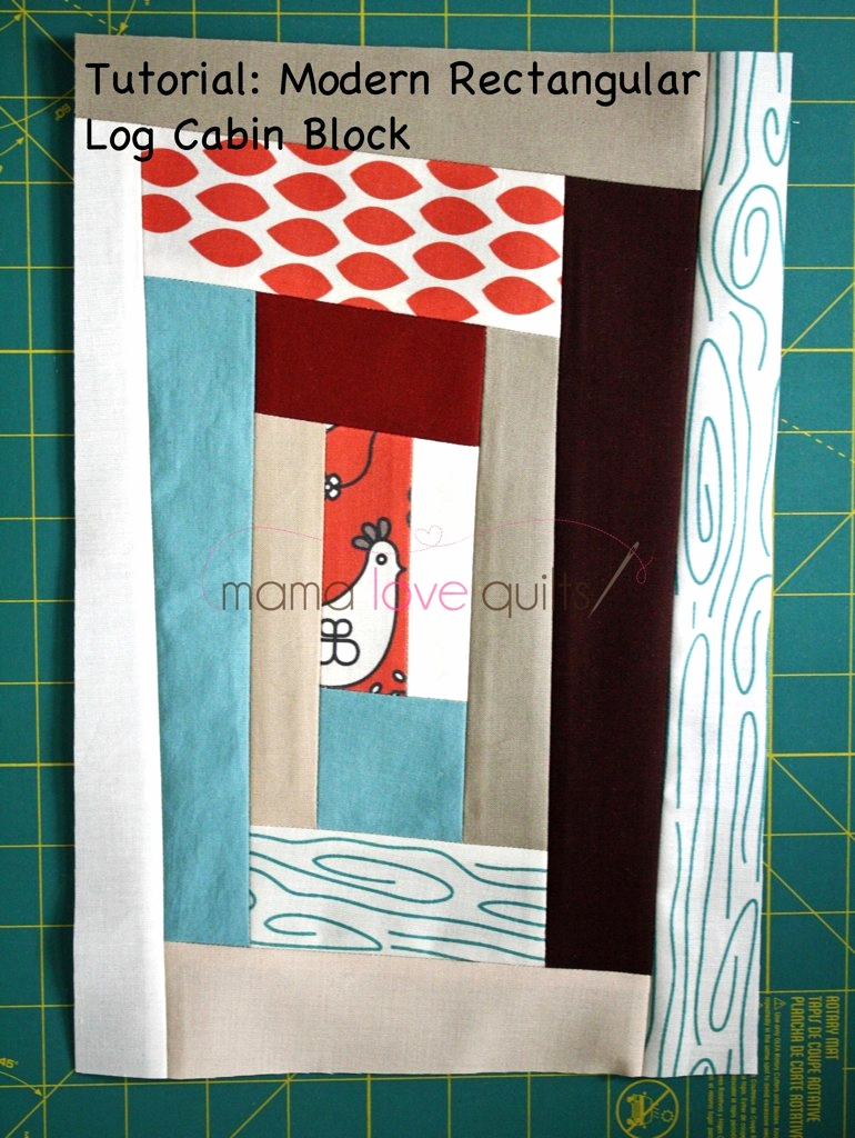 Modern Log Cabin Quilt Block