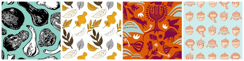 Fall fabrics on Spoonflower