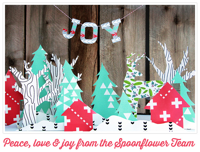 Happy Holidays from Spoonflower!
